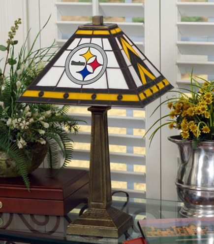 Pittsburgh Steelers Stained Glass Mission Table Lamp