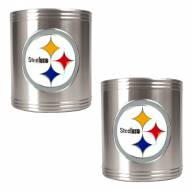 Pittsburgh Steelers Stainless Steel Can Coozie Set