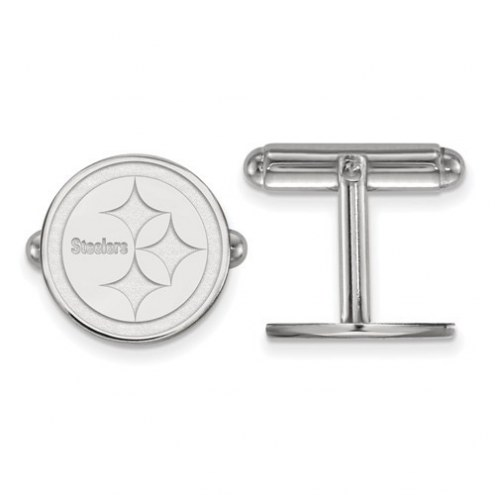 Pittsburgh Steelers Sterling Silver Cuff Links
