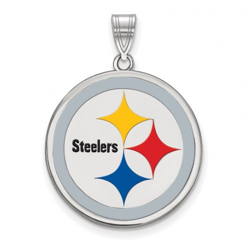Pittsburgh Steelers Sterling Silver Enamel Pendant