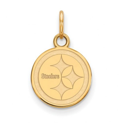 Pittsburgh Steelers Sterling Silver Gold Plated Extra Small Pendant