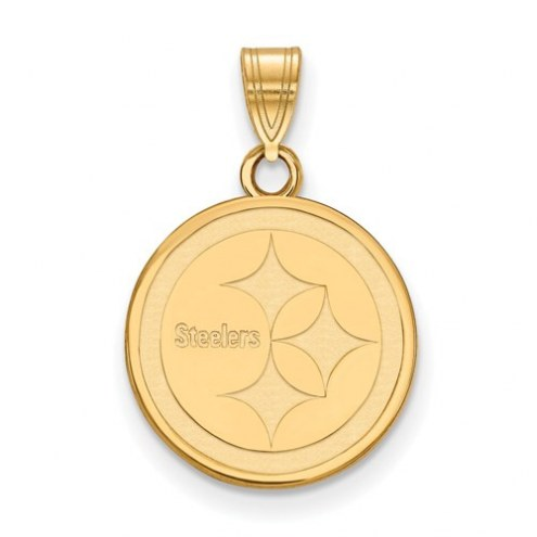 Pittsburgh Steelers Sterling Silver Gold Plated Small Pendant