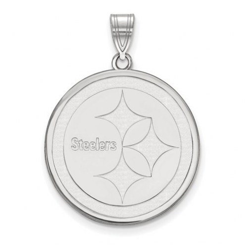 Pittsburgh Steelers Sterling Silver Large Pendant