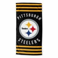 Pittsburgh Steelers Stripes Beach Towel