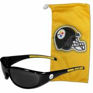 Pittsburgh Steelers Sunglasses and Bag Set