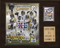 "Pittsburgh Steelers 12"" x 15"" Super Bowl XL Champions Plaque"