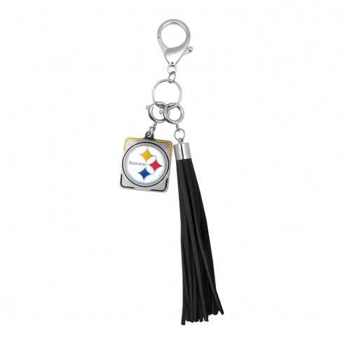 Pittsburgh Steelers Tassel Purse Charm