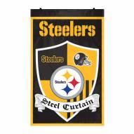 Pittsburgh Steelers Team Shield Banner