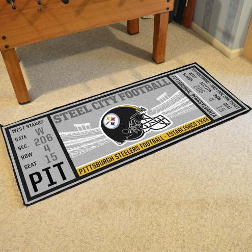 Pittsburgh Steelers Ticket Runner Rug