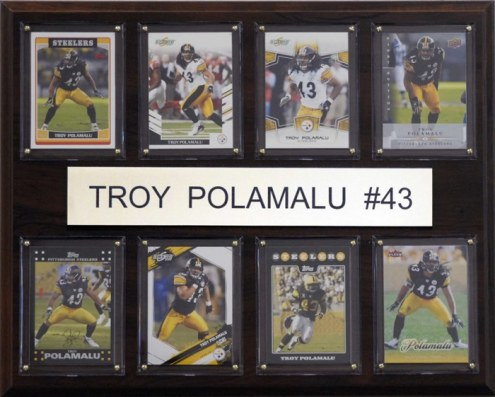 "Pittsburgh Steelers Troy Polamalu 12"" x 15"" Card Plaque"