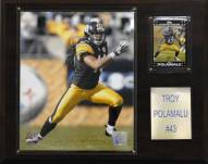 "Pittsburgh Steelers Troy Polamalu 12 x 15"" Player Plaque"