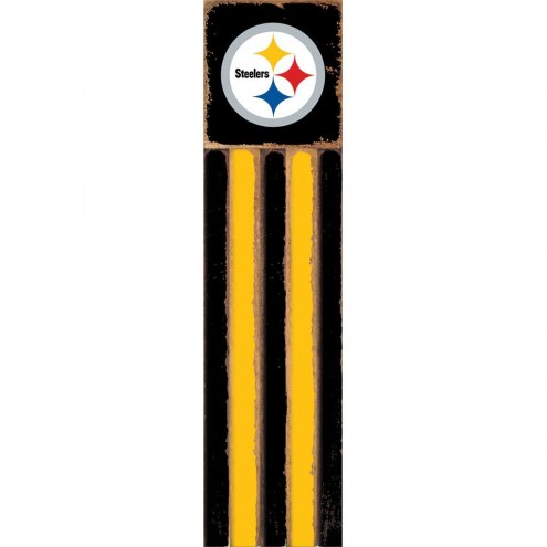 Pittsburgh Steelers Vertical Flag Wall Sign