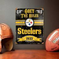 Pittsburgh Steelers Vintage Metal Sign