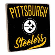 Pittsburgh Steelers Vintage Square Wall Sign