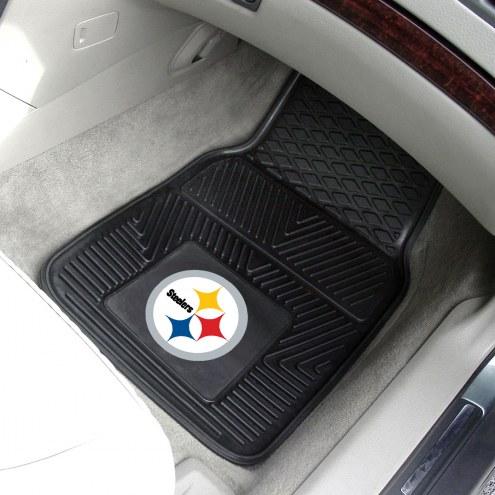 Pittsburgh Steelers Vinyl 2-Piece Car Floor Mats