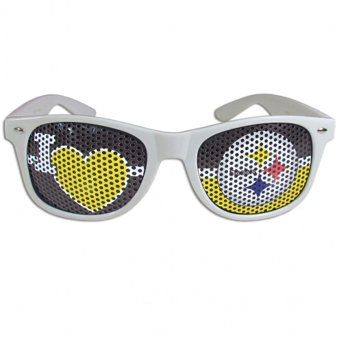 Pittsburgh Steelers White I Heart Game Day Shades