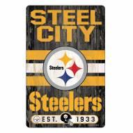Pittsburgh Steelers Slogan Wood Sign