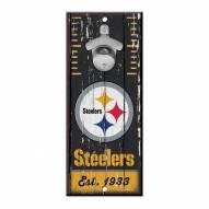 Pittsburgh Steelers Wood Bottle Opener