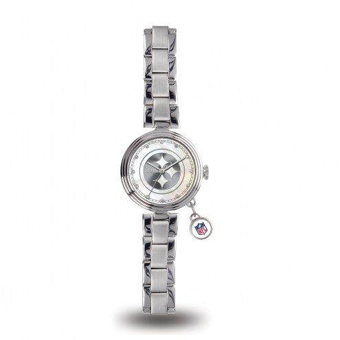 Pittsburgh Steelers Women's Charm Watch