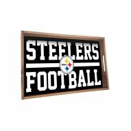 Pittsburgh Steelers Wooden Serving Tray