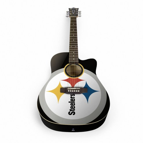 Pittsburgh Steelers Woodrow Acoustic Guitar