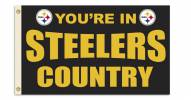 """Pittsburgh Steelers """"You're In Steelers Country"""" Flag"""