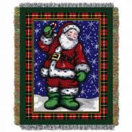 Plaid Santa Throw Blanket