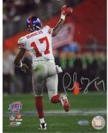 Plaxico Burress SB XLII Running Down Field After TD 8 x 10 Photograph
