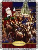Polar Express Santa Flight Throw Blanket