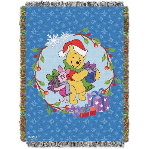 Pooh Home Made Holiday Throw Blanket