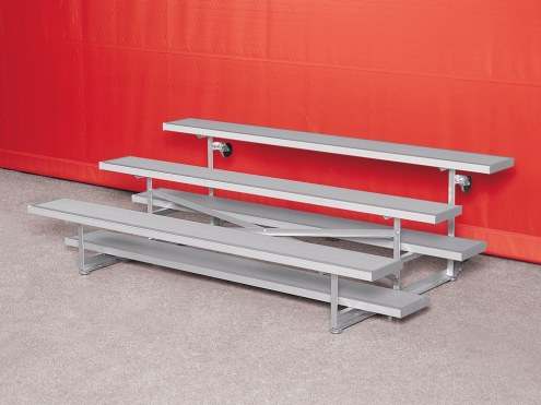 Porter 8' Long Indoor Tip and Roll Seating - 3 Rows of Bleachers