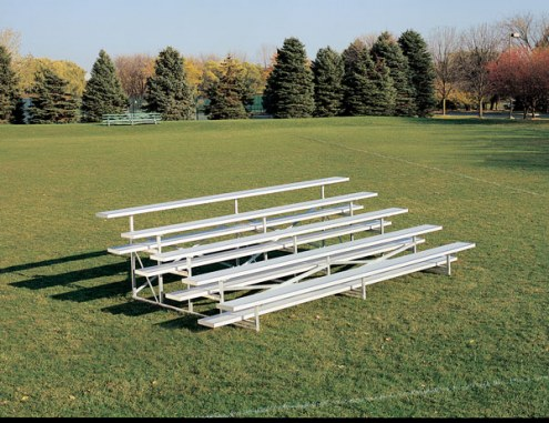 Porter 8' Long Outdoor Seating - 3 Rows of Bleachers