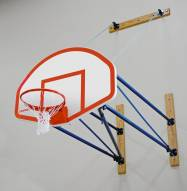 Porter Side-Fold Wall Mount Basketball Backstop
