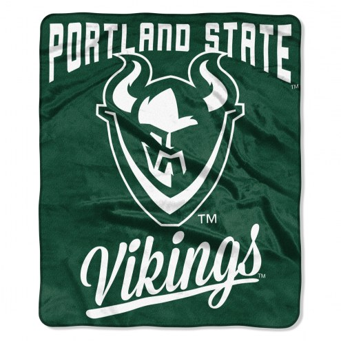 Portland State Vikings Alumni Raschel Throw Blanket