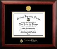 Portland State Vikings Gold Embossed Diploma Frame