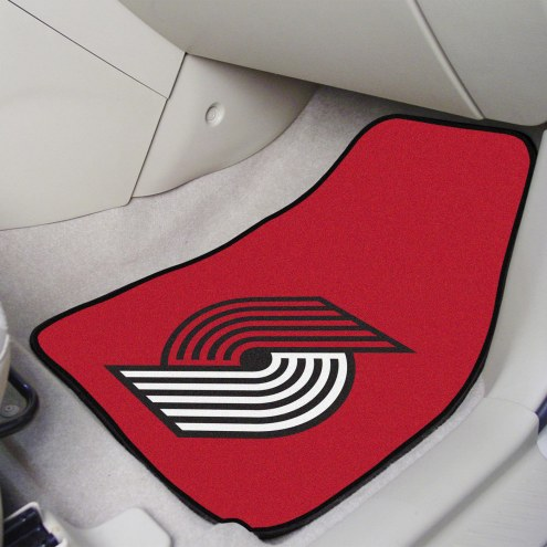 Portland Trail Blazers 2-Piece Carpet Car Mats