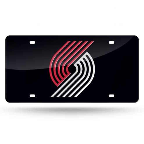 Portland Trail Blazers Black Laser Cut License Plate