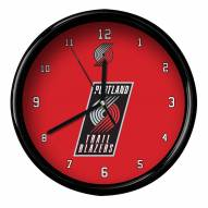Portland Trail Blazers Black Rim Clock