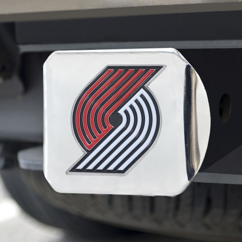 Portland Trail Blazers Chrome Color Hitch Cover