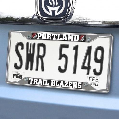 Portland Trail Blazers Chrome Metal License Plate Frame