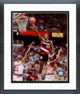 Portland Trail Blazers Clyde Drexler Action Framed Photo