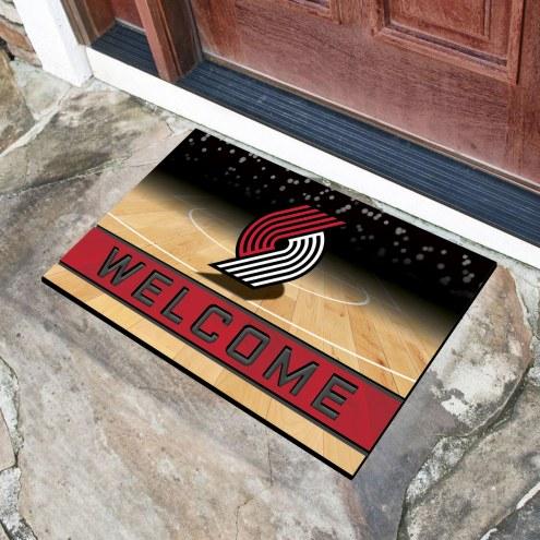 Portland Trail Blazers Crumb Rubber Door Mat