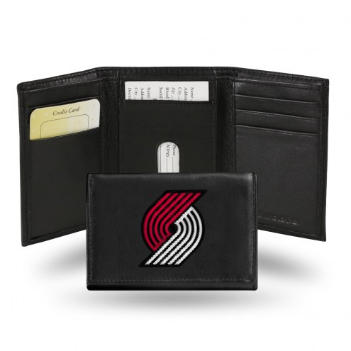 Portland Trail Blazers Embroidered Leather Tri-Fold Wallet