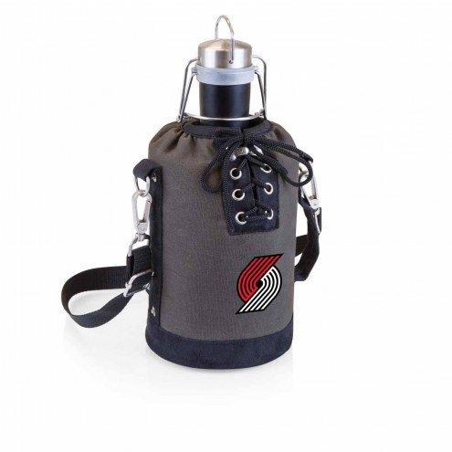 Portland Trail Blazers Insulated Growler Tote with 64 oz. Stainless Steel Growler