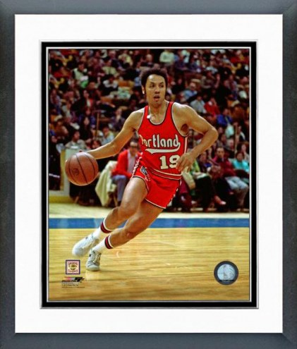 Portland Trail Blazers Lenny Wilkens 1973 Action Framed Photo