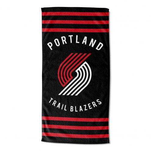 Portland Trail Blazers Stripes Beach Towel