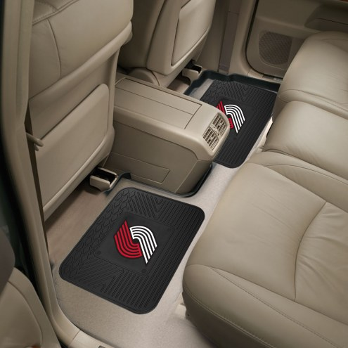 Portland Trail Blazers Vinyl 2-Piece Rear Floor Mats