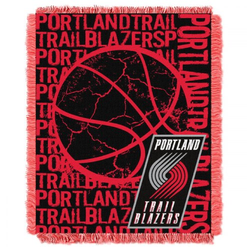 Portland Trail Blazers Woven Jacquard Throw Blanket