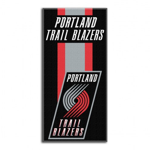 Portland Trail Blazers Zone Read Beach Towel