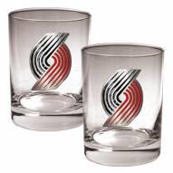 Portland Trailblazers NBA 2-Piece 14 Oz. Rocks Glass Set